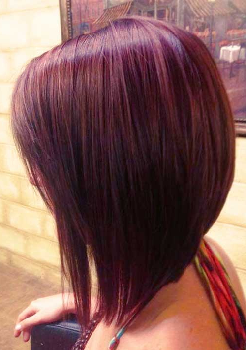 55 Best Long Angled Bob Hairstyles We Love – Hairstylecamp Within 2018 Medium Angled Purple Bob Hairstyles (View 15 of 25)