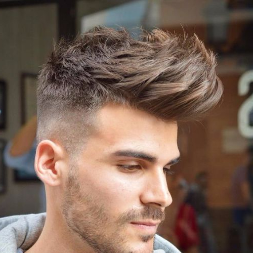 55 Coolest Faux Hawk Haircuts For Men – Men Hairstyles World Inside Fauxhawk Hairstyles With Front Top Locks (View 24 of 25)