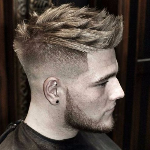 55 Coolest Faux Hawk Haircuts For Men – Men Hairstyles World Intended For Textured Blue Mohawk Hairstyles (View 16 of 25)
