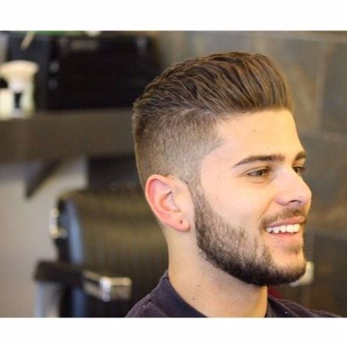 55 Coolest Faux Hawk Haircuts For Men – Men Hairstyles World With Voluminous Tapered Hawk Hairstyles (View 22 of 25)