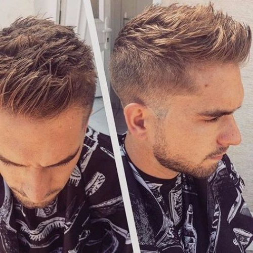 55 Coolest Faux Hawk Haircuts For Men – Men Hairstyles World Within Voluminous Tapered Hawk Hairstyles (View 24 of 25)
