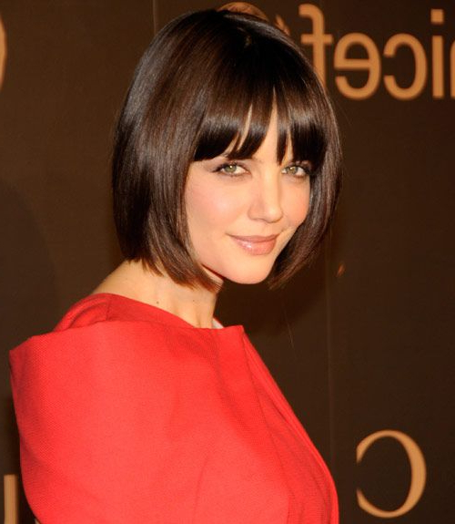55+ Cute Bob Haircuts And Hairstyles Inspiredcelebrities 2017 Pertaining To Most Recent Brunette Feathered Bob Hairstyles With Piece Y Bangs (View 17 of 25)