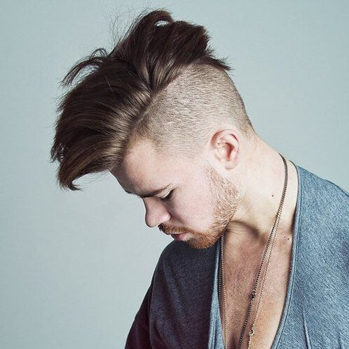 55 Edgy Or Sleek Mohawk Hairstyles For Men – Men Hairstyles World In Long Platinum Mohawk Hairstyles With Faded Sides (View 6 of 25)
