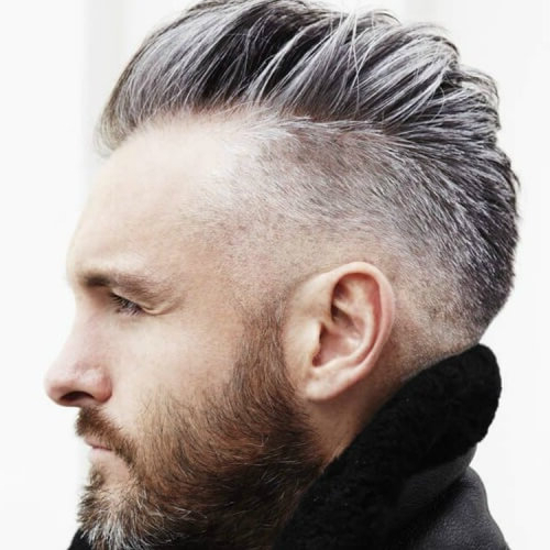 55 Edgy Or Sleek Mohawk Hairstyles For Men – Men Hairstyles World Regarding Silvery White Mohawk Hairstyles (View 7 of 25)