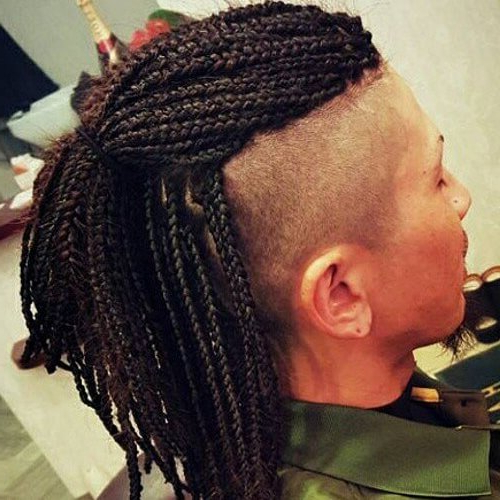55 Edgy Or Sleek Mohawk Hairstyles For Men – Men Hairstyles World Throughout Mohawk Hairstyles With Multiple Braids (View 11 of 25)