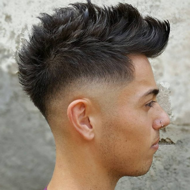 55 Spectacular Faux Hawk Fade Ideas – The Ways To Rock Your Hair Inside Voluminous Tapered Hawk Hairstyles (View 19 of 25)