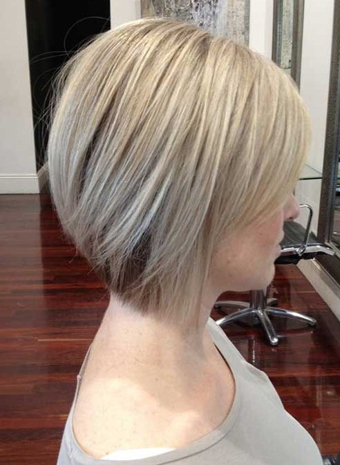 55 Super Hot Short Hairstyles 2017 – Layers, Cool Colors, Curls, Bangs Pertaining To Newest Point Cut Bob Hairstyles With Caramel Balayage (View 24 of 25)