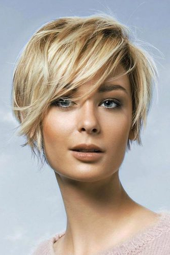 56 Best Short Haircuts 2019 – Quick & Easy To Style | Lovehairstyles With Regard To Best And Newest Perfect Layered Blonde Bob Hairstyles With Bangs (View 18 of 25)
