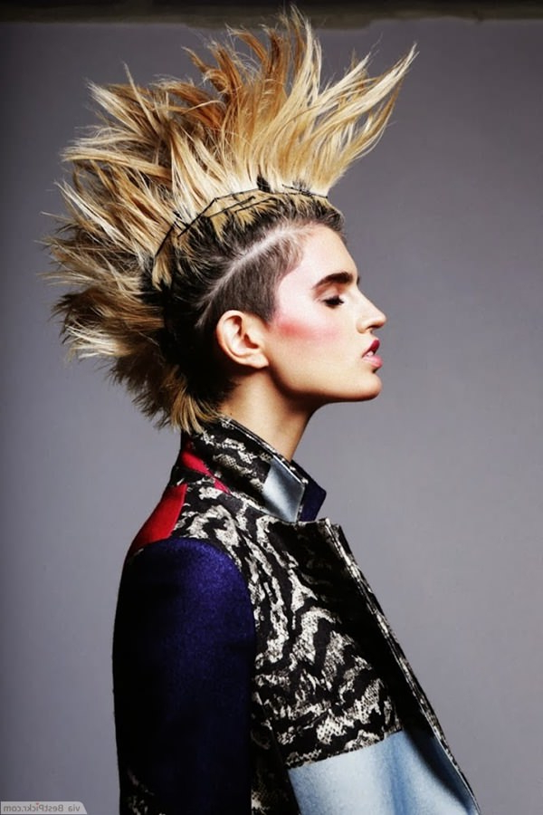 56 Punk Hairstyles To Help You Stand Out From The Crowd With Gelled Mohawk Hairstyles (View 25 of 25)