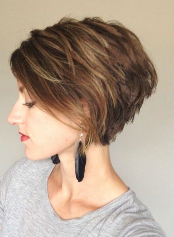 56 Stacked Bob Hairstyle For The Style Year 2019 – Style Easily In Best And Newest Fringy Layers Hairstyles With Dimensional Highlights (View 23 of 25)