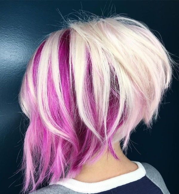 56 Stacked Bob Hairstyle For The Style Year 2019 – Style Easily Intended For Most Up To Date Medium Angled Purple Bob Hairstyles (View 16 of 25)