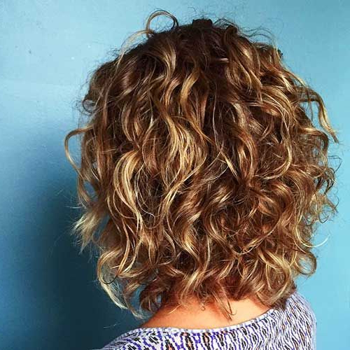 58 Short Bobs Hair Cuts Hairstyles 2019 | Hair And Makeup Regarding Most Popular Curly Layered Bob Hairstyles (View 6 of 25)