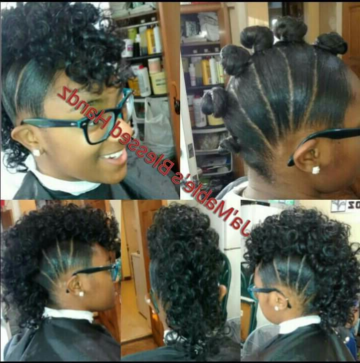 6 Buns W/ A Rodded Ponytail Added. | All Things Hair! | Pinterest Regarding Divine Mohawk Like Updo Hairstyles (Gallery 13 of 25)