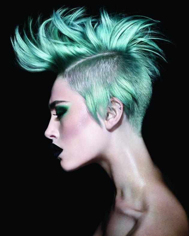 6 Wella Pastel Color Pop Models – Inspiration | Hair Collections Inside Platinum Mohawk Hairstyles With Geometric Designs (View 19 of 25)