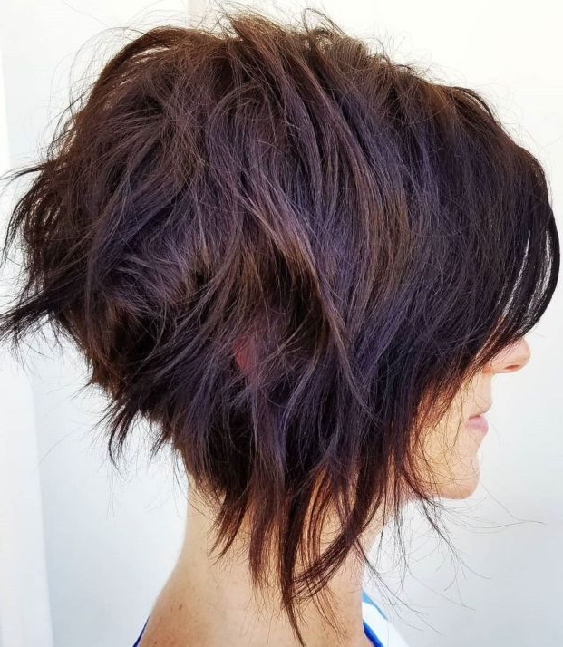 60 Classy Short Haircuts And Hairstyles For Thick Hair In 2018 Pertaining To Best And Newest Uneven Layered Bob Hairstyles For Thick Hair (Gallery 25 of 25)