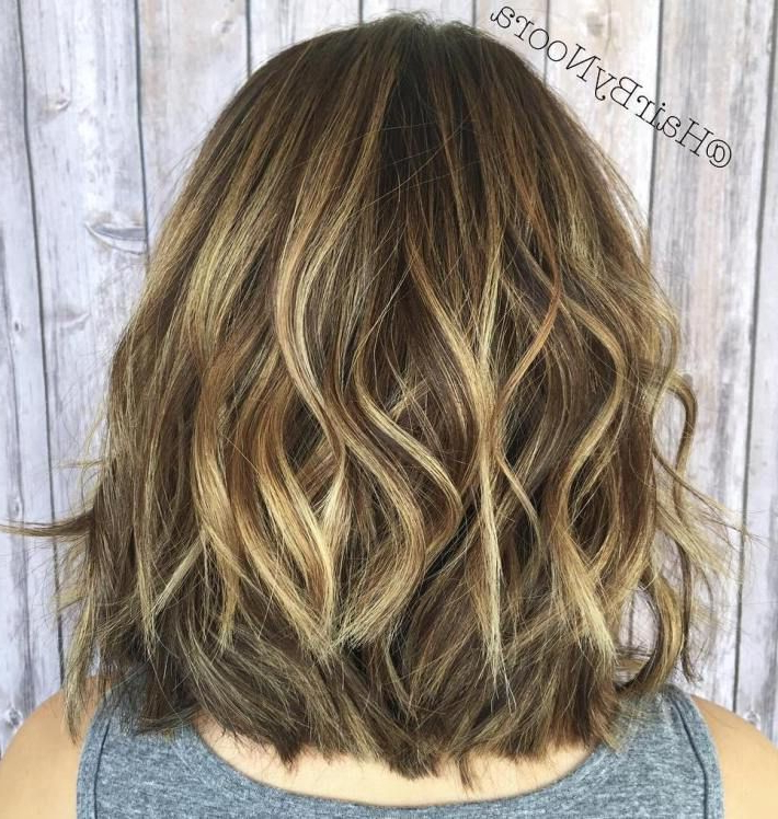 60 Inspiring Long Bob Hairstyles And Haircuts In 2018 | Hair With Most Recently Layered Wavy Lob Hairstyles (View 2 of 25)