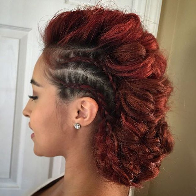 60 Most Gorgeous Mohawk Hairstyles Of Nowadays – Page 12 – Foliver Blog Throughout Glamorous Mohawk Updo Hairstyles (View 5 of 25)