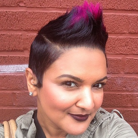 60 Most Gorgeous Mohawk Hairstyles Of Nowadays – Page 7 – Foliver Blog For Spiky Mohawk Hairstyles With Pink Peekaboo Streaks (View 2 of 25)