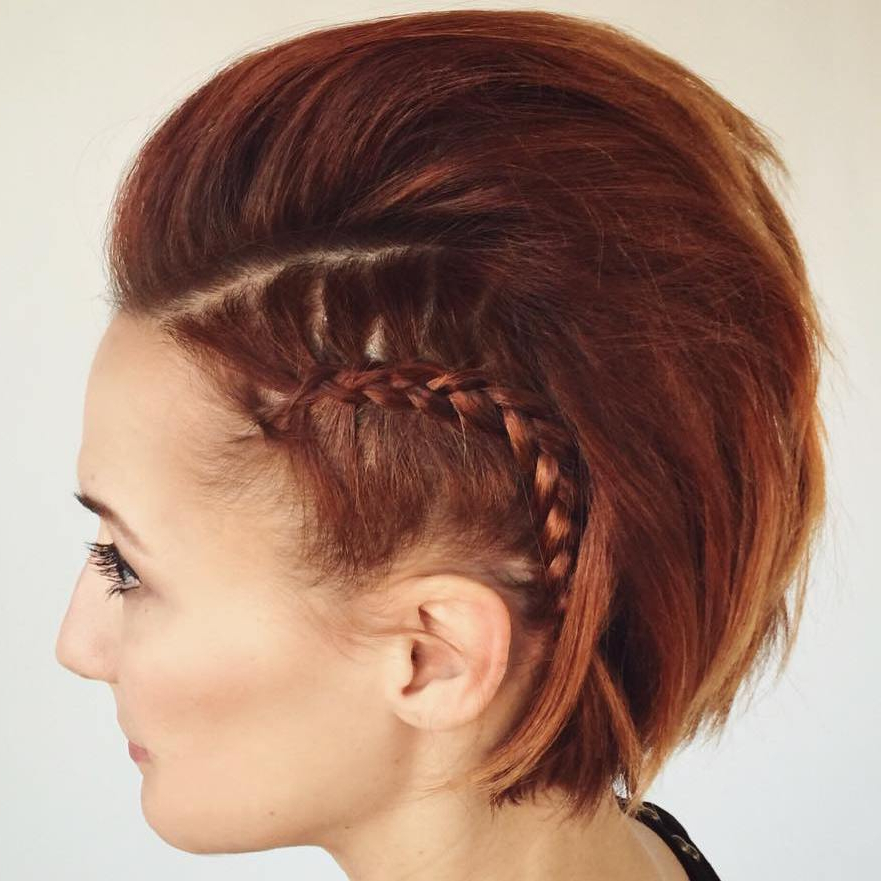 60 Most Gorgeous Mohawk Hairstyles Of Nowadays – Page 9 – Foliver Blog Inside Quick And Easy Mohawk Hairstyles (Gallery 11 of 25)