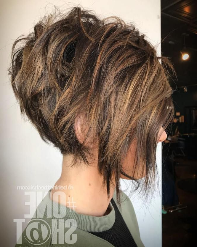 60 Short Shag Hairstyles That You Simply Can't Miss | Hair For Newest Brunette Messy Shag Hairstyles (View 18 of 25)