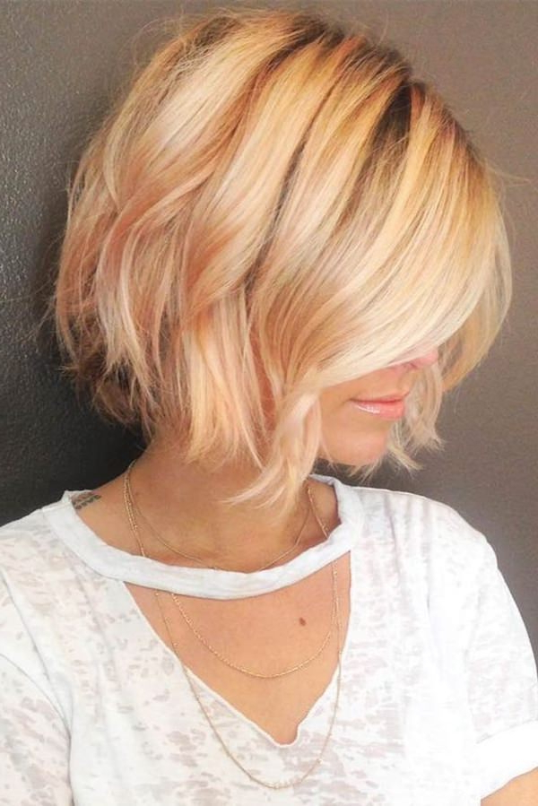 61 Charming Stacked Bob Hairstyles That Will Brighten Your Day With Regard To 2018 Long Angled Bob Hairstyles With Chopped Layers (Gallery 19 of 25)