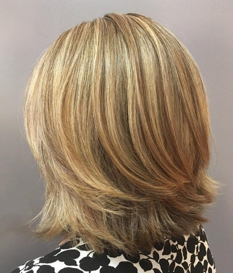70 Brightest Medium Layered Haircuts To Light You Up | ??????? Within Recent Two Tier Lob Hairstyles For Thick Hair (View 14 of 25)