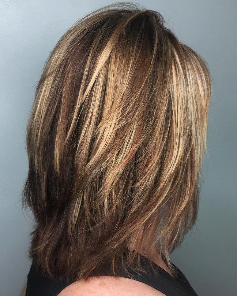 70 Brightest Medium Layered Haircuts To Light You Up   Hair Cut Intended For Current Fringy Layers Hairstyles With Dimensional Highlights (Gallery 1 of 25)