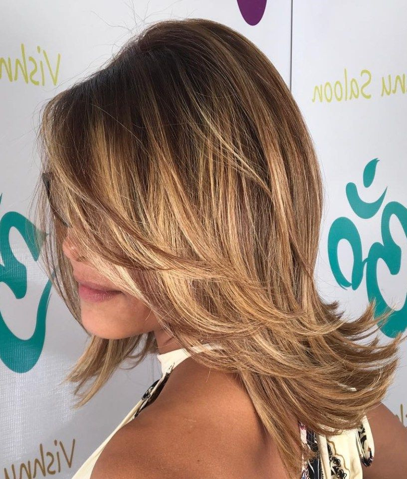 70 Brightest Medium Layered Haircuts To Light You Up | Hair Styles Throughout Newest Medium Hairstyles With Perky Feathery Layers (Gallery 1 of 25)