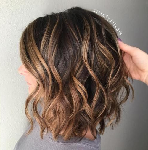 70 Brightest Medium Layered Haircuts To Light You Up | Hair Throughout Current Point Cut Bob Hairstyles With Caramel Balayage (Gallery 1 of 25)