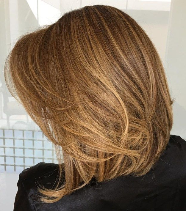 Featured Photo of Caramel Lob Hairstyles With Delicate Layers