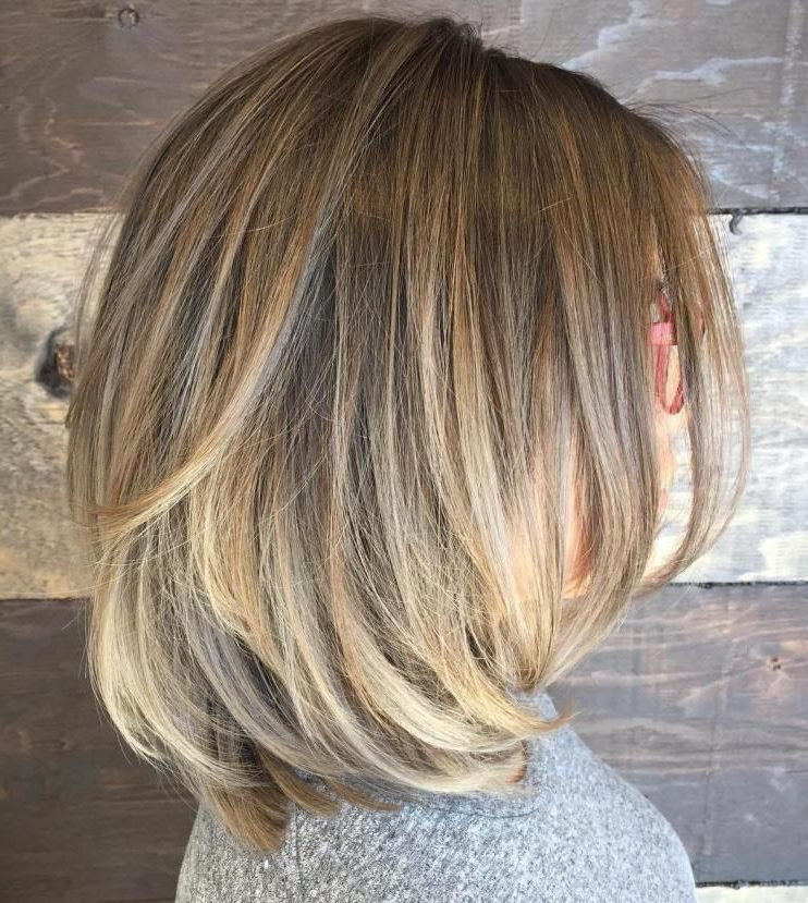 70 Brightest Medium Layered Haircuts To Light You Up | Hair With Recent Long Bob Hairstyles With Flipped Layered Ends (View 12 of 25)