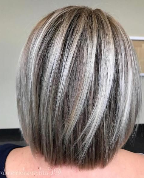 70 Brightest Medium Layered Haircuts To Light You Up | Haircut Ideas For Current Straight Rounded Lob Hairstyles With Chunky Razored Layers (Gallery 1 of 25)