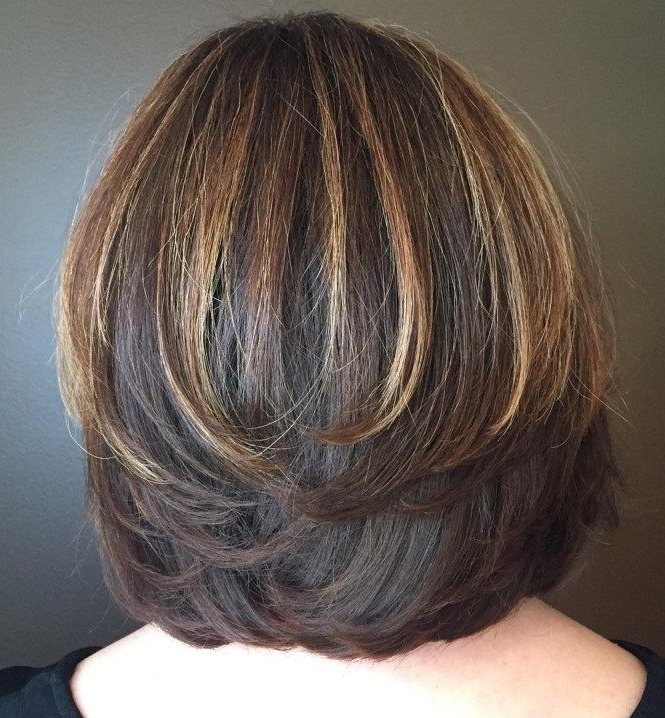70 Brightest Medium Layered Haircuts To Light You Up | Hairstyles With Most Recent Bob Haircuts With Symmetrical Swoopy Layers (Gallery 1 of 25)