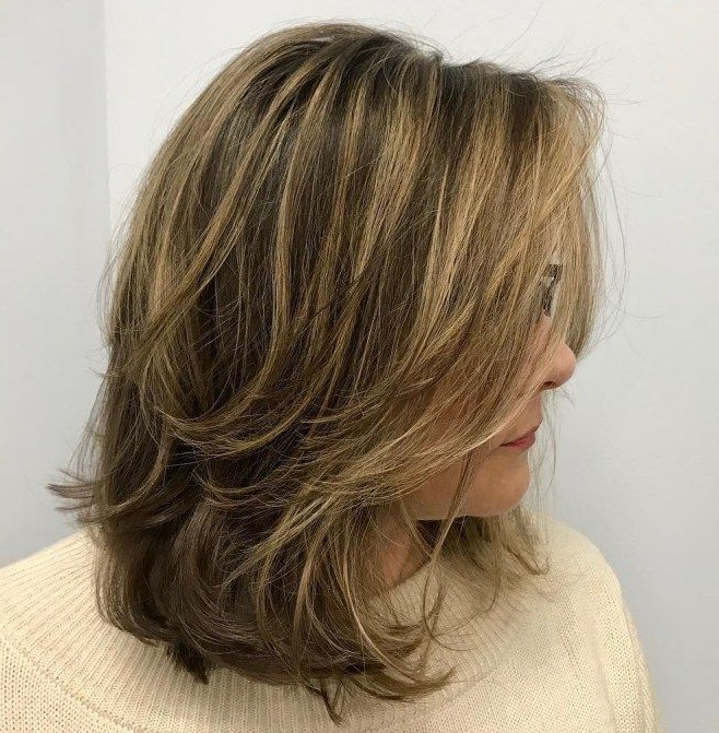 70 Brightest Medium Layered Haircuts To Light You Up In 2018 | Hair Pertaining To Newest Medium Messy Feathered Haircuts (Gallery 1 of 25)