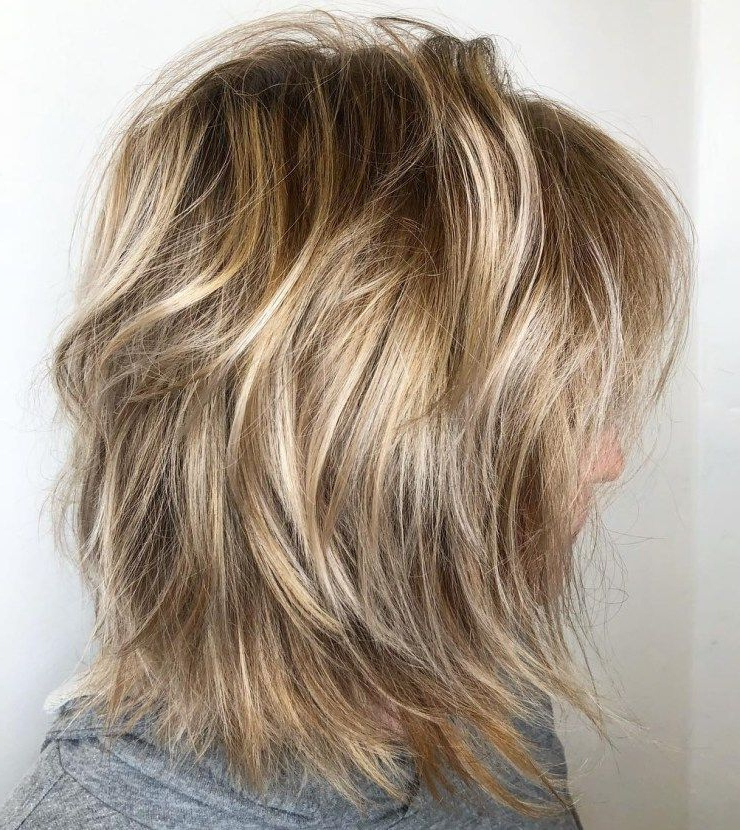 70 Brightest Medium Layered Haircuts To Light You Up In 2018 Regarding Most Recent Medium Golden Bronde Shag Hairstyles (View 1 of 25)