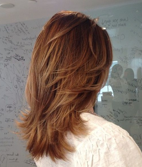70 Brightest Medium Layered Haircuts To Light You Up In 2018 Regarding Newest Feathered V Layers Hairstyles (Gallery 1 of 25)