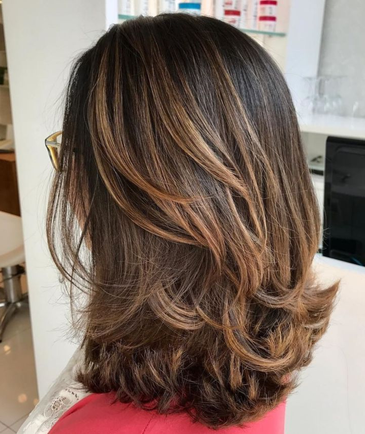 70 Brightest Medium Layered Haircuts To Light You Up In 2019 | Hair Throughout Most Popular Swoopy Layers Hairstyles For Voluminous And Dynamic Hair (Gallery 1 of 25)