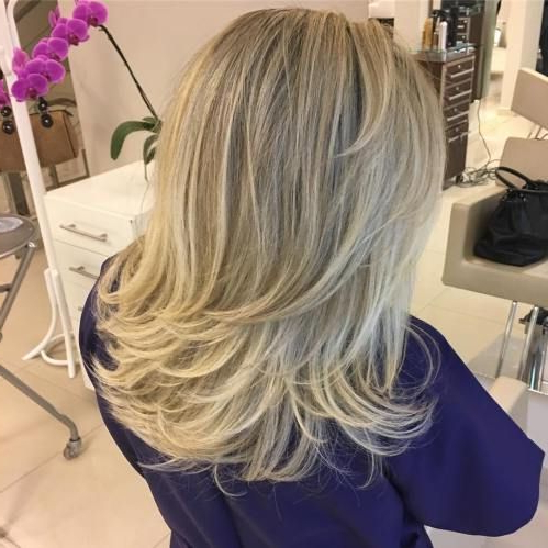 70 Brightest Medium Layered Haircuts To Light You Up | Pinterest With Regard To Newest Longer Hairstyles With Feathered Bottom (Gallery 7 of 25)