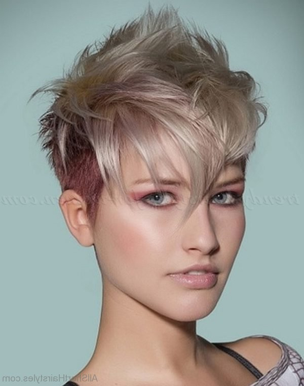 70 Cool Short Undercut Hairstyles Inside Asymmetrical Pixie Faux Hawk Hairstyles (Gallery 22 of 25)