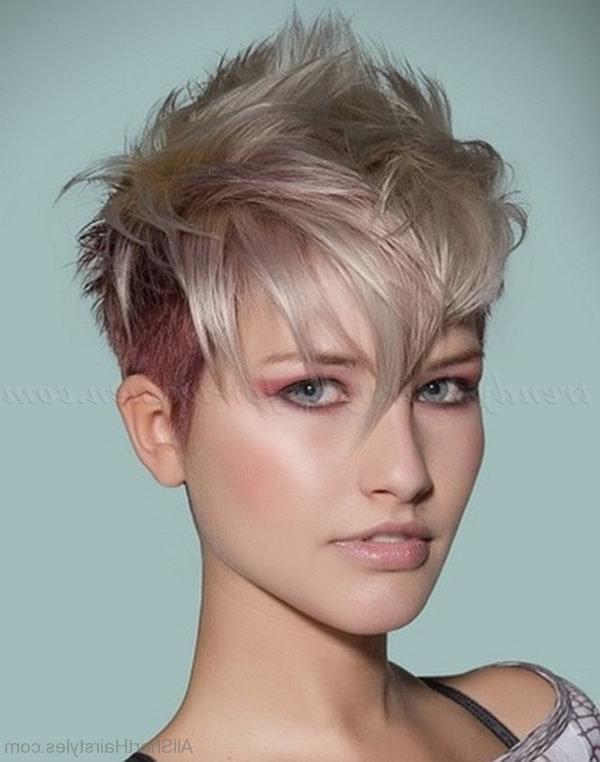 70 Cool Short Undercut Hairstyles Inside Asymmetrical Pixie Faux Hawk Hairstyles (View 22 of 25)