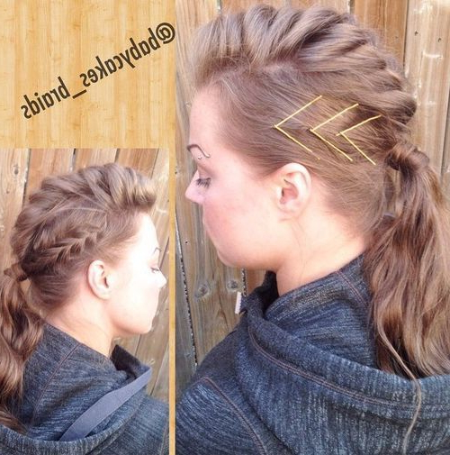 70 Most Gorgeous Mohawk Hairstyles Of Nowadays   Braided Mohawk Within Long And Lovely Mohawk Hairstyles (Gallery 1 of 25)
