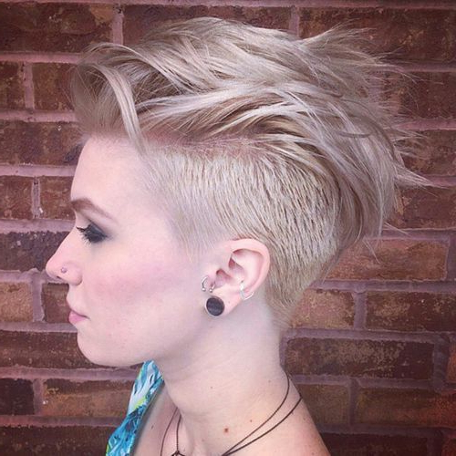 70 Most Gorgeous Mohawk Hairstyles Of Nowadays | Hair Cut And Style Pertaining To Long Platinum Mohawk Hairstyles With Faded Sides (Gallery 4 of 25)