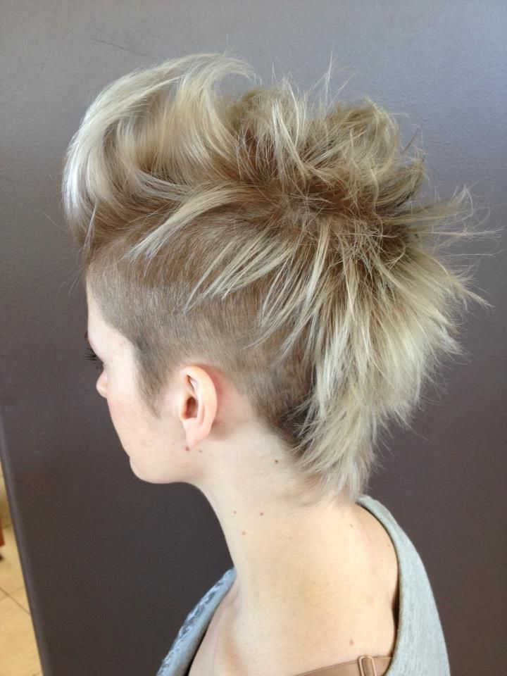 70 Most Gorgeous Mohawk Hairstyles Of Nowadays | Hair | Pinterest Intended For Spiky Mohawk Hairstyles With Pink Peekaboo Streaks (Gallery 3 of 25)
