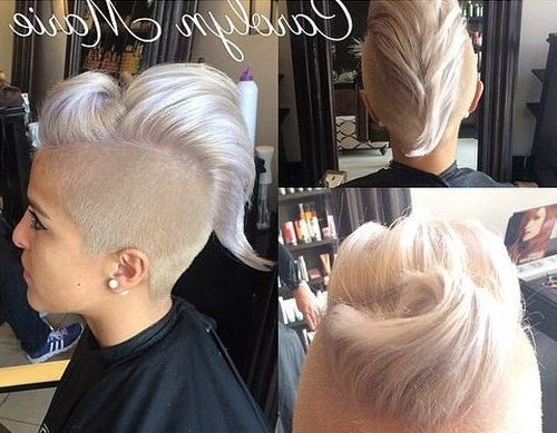 70 Most Gorgeous Mohawk Hairstyles Of Nowadays | Hair Stuff Regarding Blonde Mohawk Hairstyles (Gallery 14 of 25)