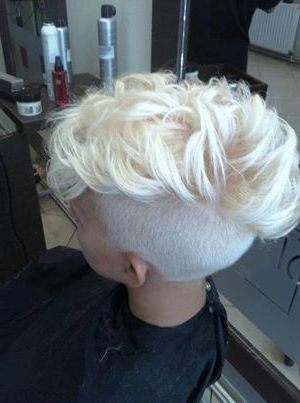 70 Most Gorgeous Mohawk Hairstyles Of Nowadays | Hairstyles Within Bleached Feminine Mohawk Hairstyles (Gallery 25 of 25)