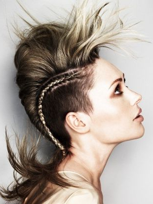 70 Most Gorgeous Mohawk Hairstyles Of Nowadays In 2018 | Hair For Mohawk Hairstyles With An Undershave For Girls (View 19 of 25)