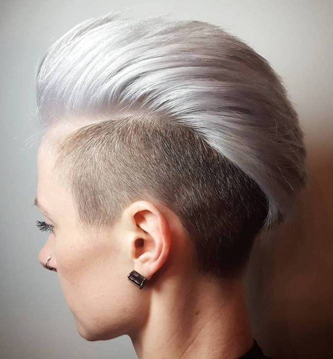 70 Most Gorgeous Mohawk Hairstyles Of Nowadays In 2018 | I Feel In Mini Braided Babe Mohawk Hairstyles (View 19 of 25)