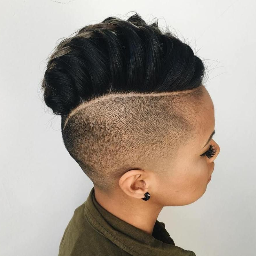 70 Most Gorgeous Mohawk Hairstyles Of Nowadays | Mohawks, Short Hair For Mohawk Hairstyles With An Undershave For Girls (Gallery 2 of 25)