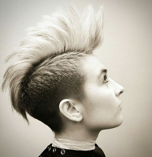 70 Most Gorgeous Mohawk Hairstyles Of Nowadays | Mohawks, Short Hair Pertaining To Whipped Cream Mohawk Hairstyles (View 9 of 25)