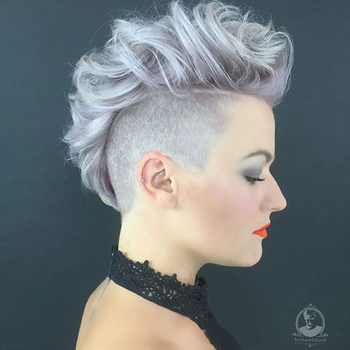 70 Most Gorgeous Mohawk Hairstyles Of Nowadays Pertaining To Bleached Feminine Mohawk Hairstyles (Gallery 4 of 25)